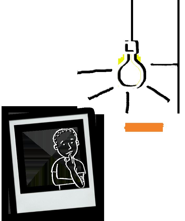 Philosophie Mann Glühbirne