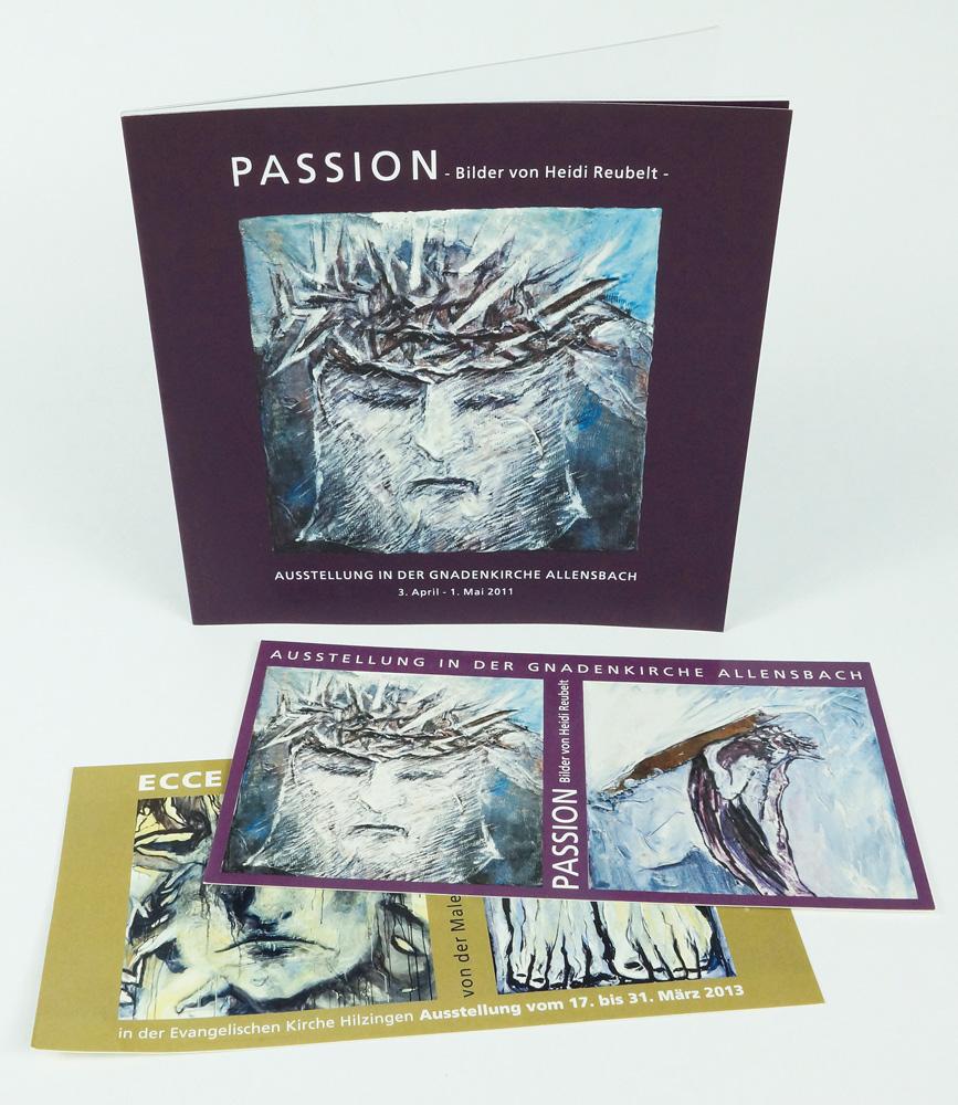 Passion Broschüre und Postkarten