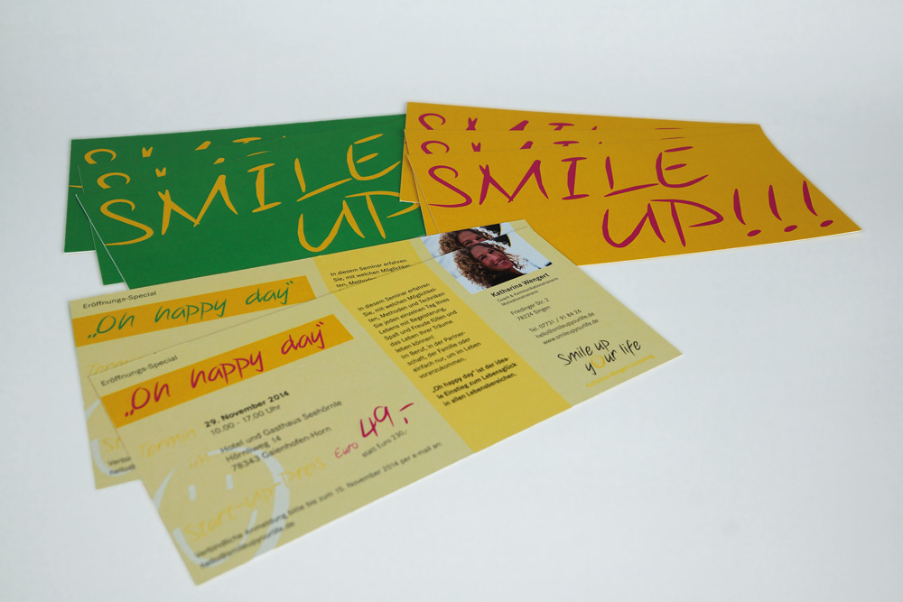 Smile up your life: Flyer