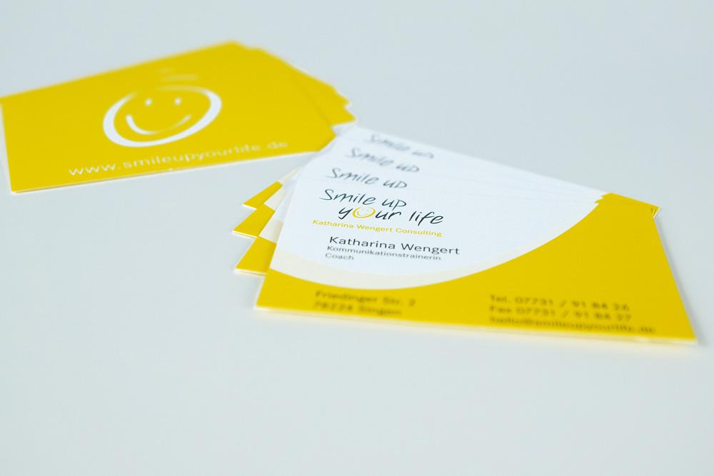 Smile up your life: Visitenkarten