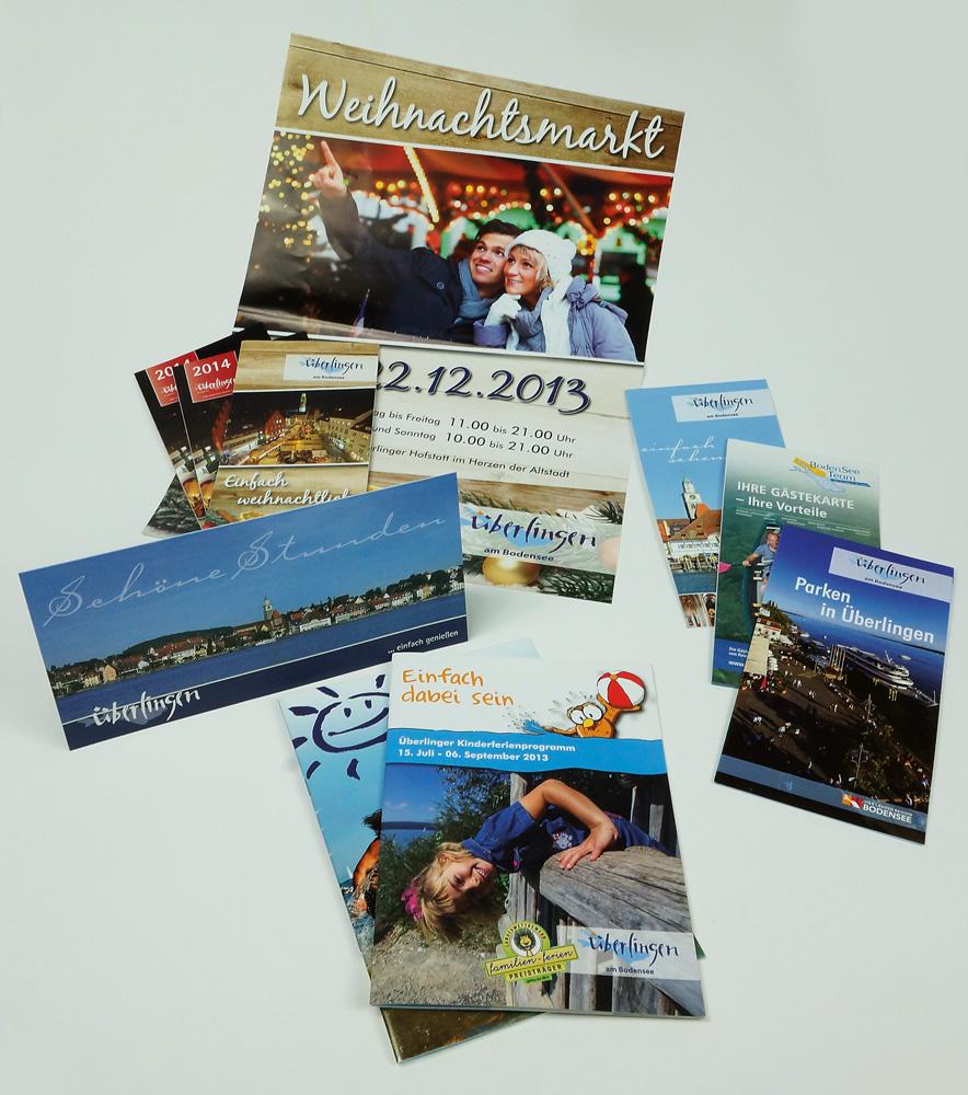 Stadt Überlingen: Flyer, Plakate, Broschüren