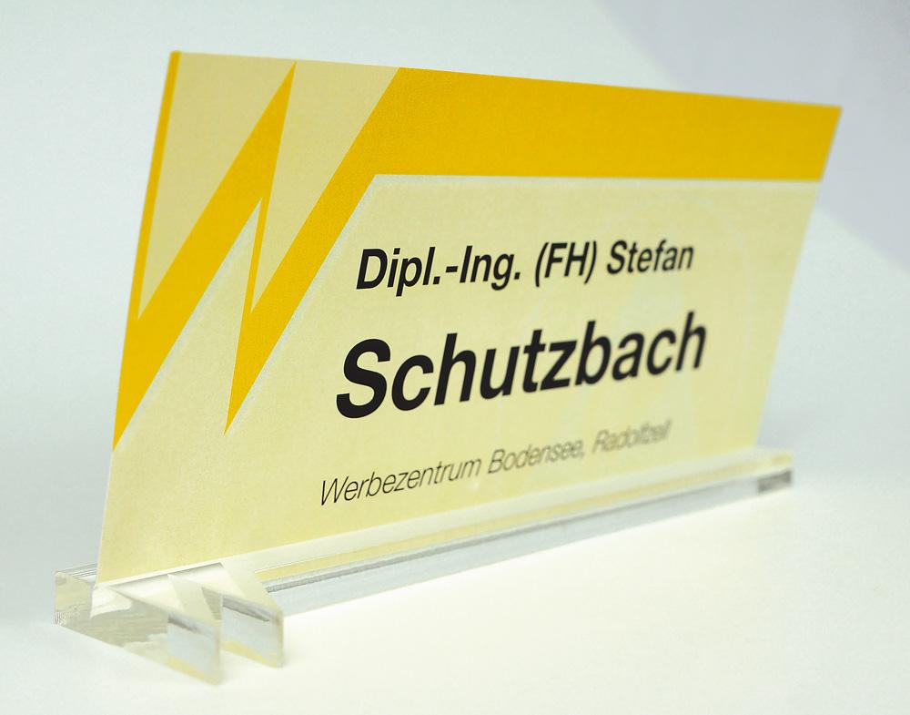 Wolfgang Warmbier: Namensschild mit Plexiglas-Fuß