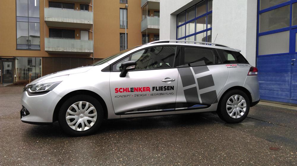 Schlenker: Fahrzeugbeschriftung