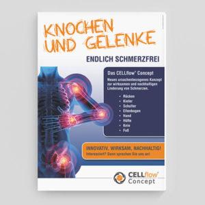 """Cellflow Concept Plakat """"Knochen und Gelenke"""""""