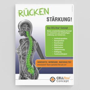 """Cellflow Concept Plakat """"Rücken Stärkung"""""""