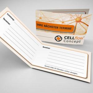 Cellflow Concept Terminkarte