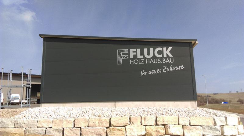 Folienbeschriftungen bei Fluck Holzhaus