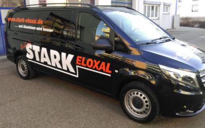 Starke Fahrzeugbeschriftung von Stark Eloxal