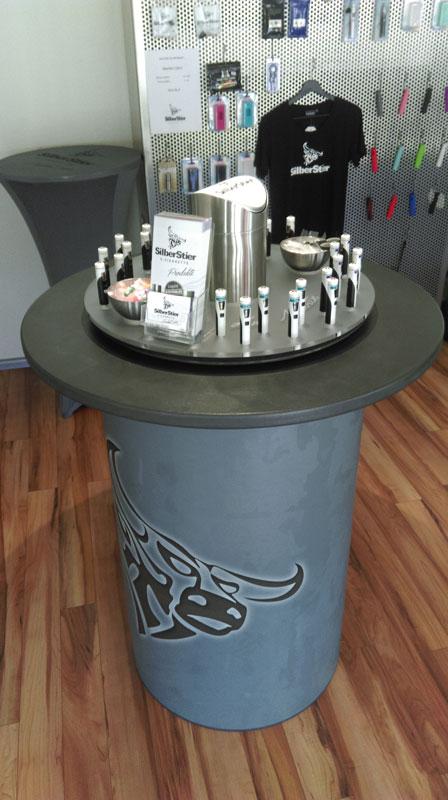 E-Zigaretten Probierinsel SilberStier