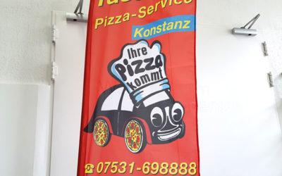 Beachflag Pizza-Service Tassone