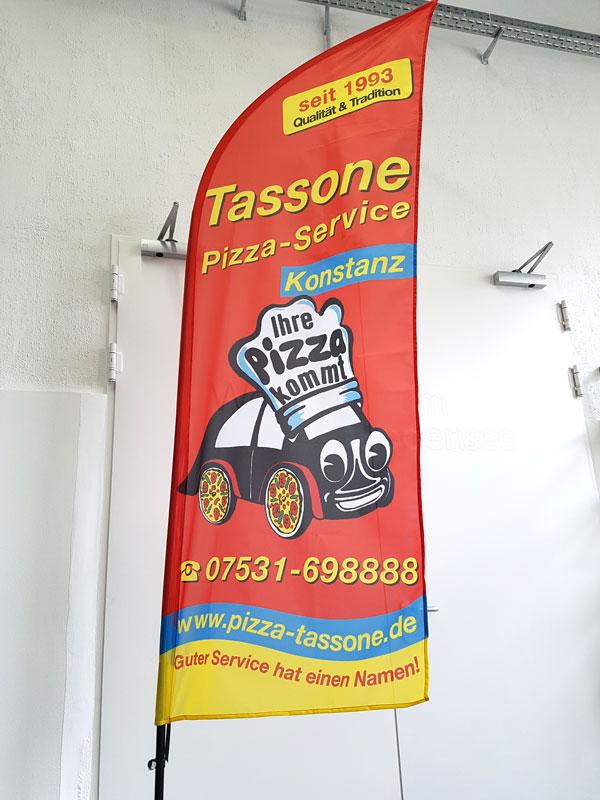 Beachflag rot Tassone