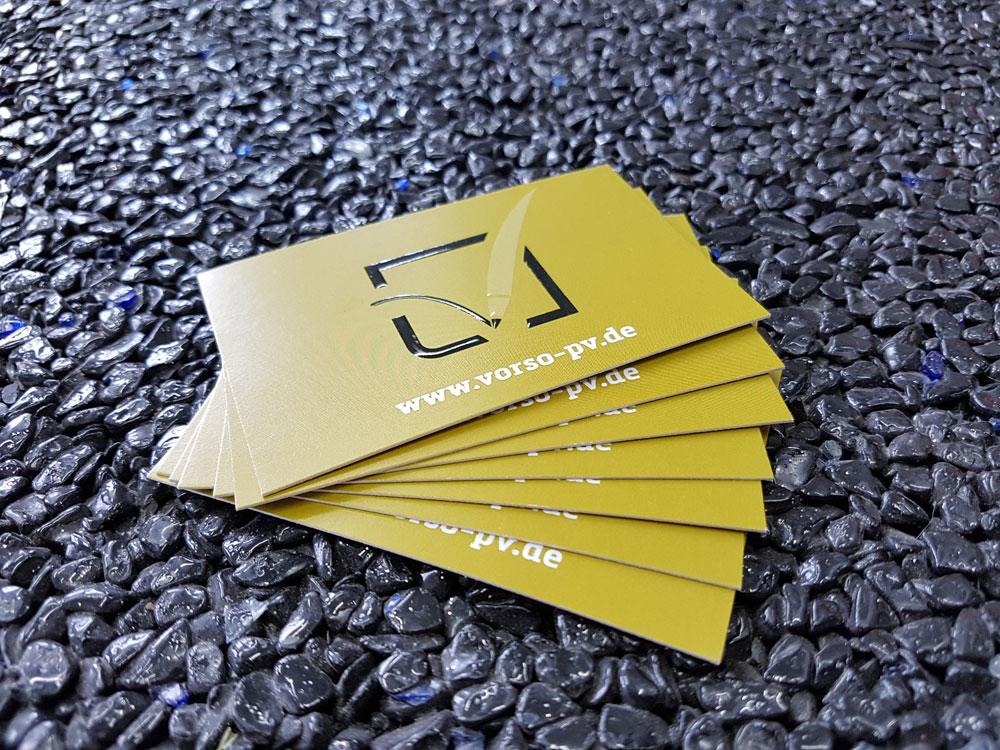 Visitenkarte Auf 450g Papier Mit Relieflack Werbezentrum