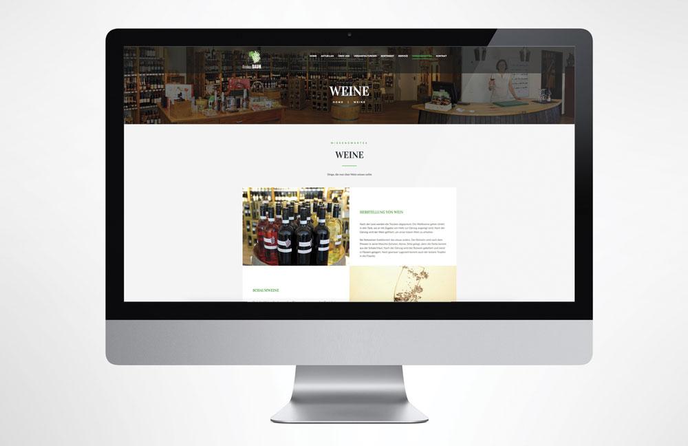 Webseite Weinhaus Baum