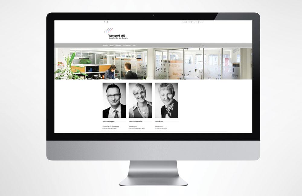 Webseite Wengert AG