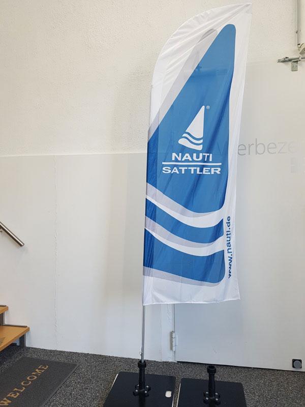 Beachflag Nauti Sattler