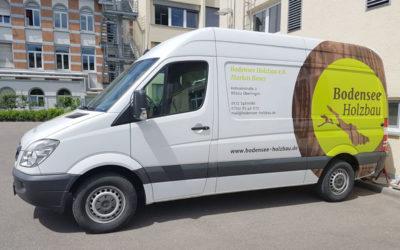 Fahrzeugbeschriftung Sprinter in Holzoptik