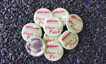 """Buttons / Pins """"Promenadenfest Überlingen"""""""
