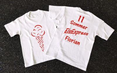 Bedruckte T-Shirts für EisExpress Florian