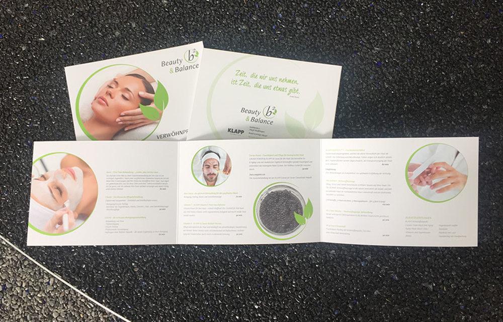 Angebotsbroschüre von Beauty&Balance