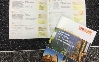 Broschüre Kultur&Genuss