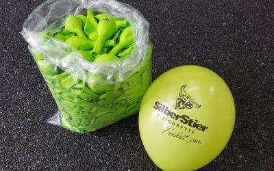 Luftballons für Silberstier