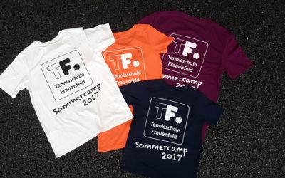 T-Shirts für Sommercamp