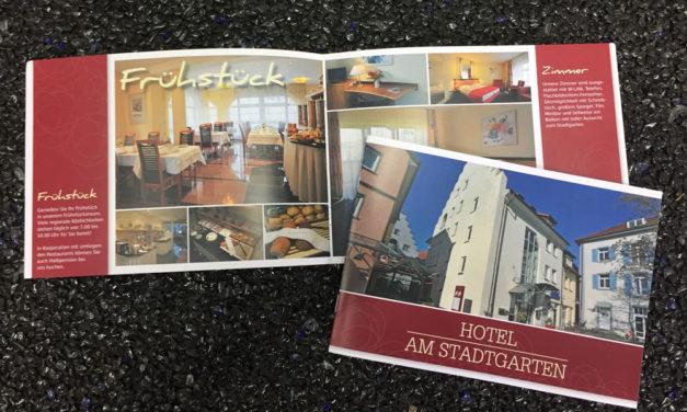 Informationsbroschüre für Hotel am Stadtgarten