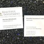 Visitenkarte mit Goldfolienprägung