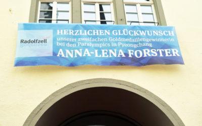 Mesh-Banner 2.0 für unsere Goldmedaillengewinnerin aus Radolfzell