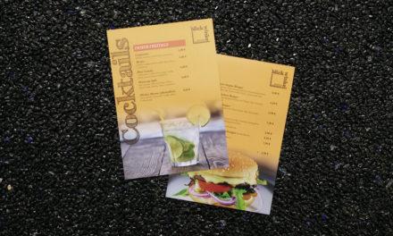 Speisekarten für das Restaurant Blickwinkel