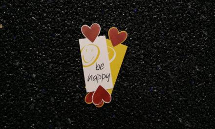 """Magnetlesezeichen """"be happy"""""""