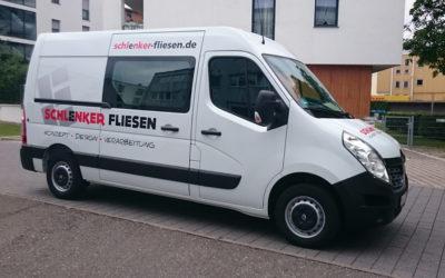 Fahrzeugbeschriftung – Firma Schlenker Fliesen