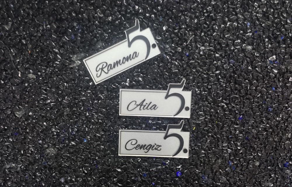 Namensschilder mit Magnet