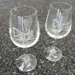 Weingläser individualisiert