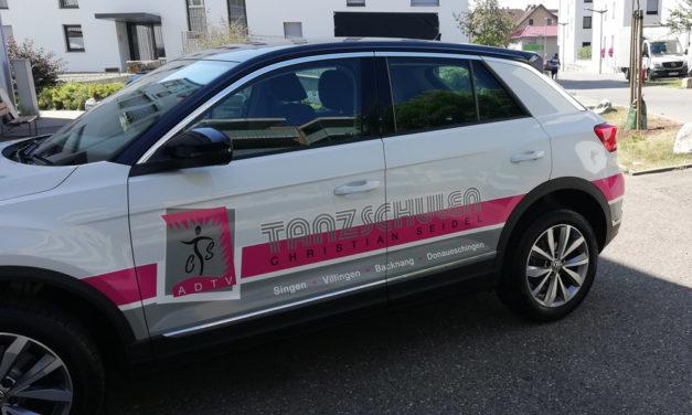 Fahrzeugbeschriftung – Tanzschule Seidel