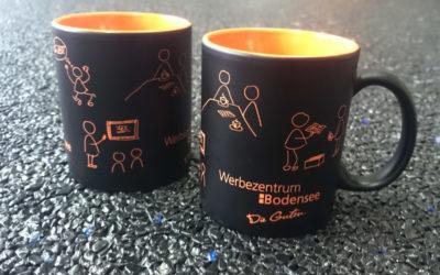Werbezentrum Bodensee Tassen mit Lasergravur