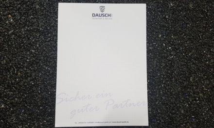 A4-Blöcke für die Firma Dausch