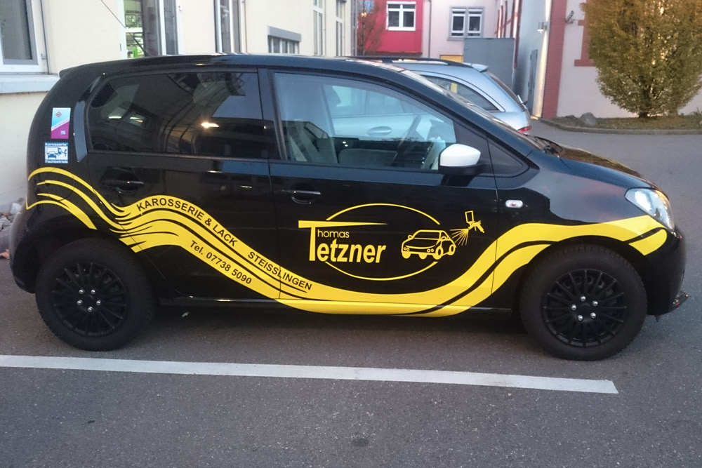 Fahrzeugbeschriftung, Tetzner