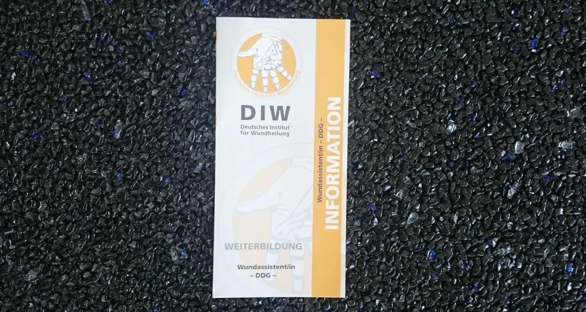 Flyer für das Deutsche Institut für Wundheilung