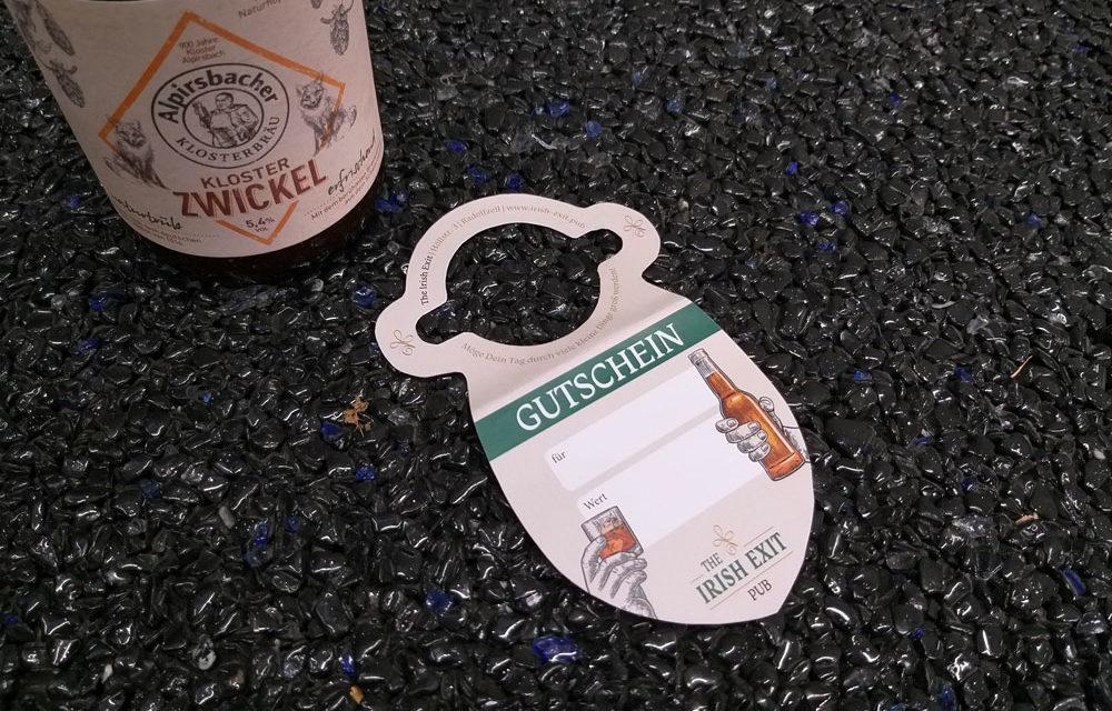 Gutschein-Flaschenanhänger für The Irish Exit
