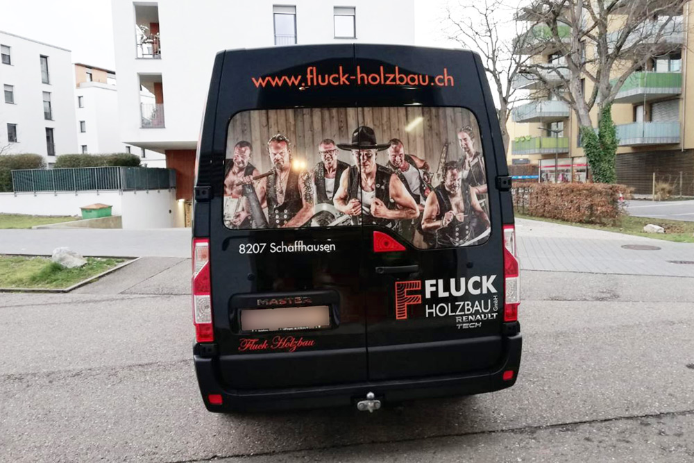 Fluck Autobeschriftung mit Digitaldruck
